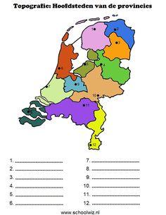 Afbeeldingsresultaat voor topografie provincies nederland