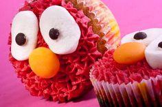 Elmo Cakes from Sprinkecup Cakes Elmo Cupcakes, Elmo Cake, Cupcake Cakes, Rosette Cake, Sesame Street Party, 2nd Birthday, Birthday Ideas, Pink Parties, Food Items