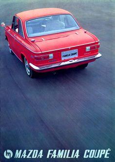 Familia-Coupe1965 Classic Japanese Cars, Classic Cars, Mazda Familia, Japan Motors, Mazda Cars, Japanese Domestic Market, Car Brochure, Ad Car, Japan Cars