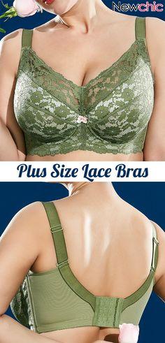 lingerie Plus Size Lace Full Cup Bras Bandeau Bikini Tops, Outfit Grid, Posture Bra, Cooler Style, Underwire Sports Bras, Comfortable Bras, Lingerie, Lace Bra, Plus Size Outfits