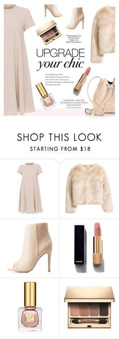 """""""Nude Chic"""" by betterthanbalmain ❤ liked on Polyvore featuring 'S MaxMara, Charlotte Russe, Magdalena, Industrie, Chanel, Estée Lauder, Clarins and Lancaster"""