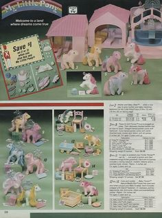 Sears Catalogue Page, 1986 ~ My Little Pony Toys, No. 13!