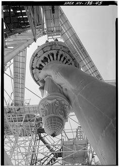 Statue of Liberty during refurbishment, 1984