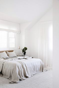 Get the relaxed linen look with CULTIVER pure linen bedding woven from European flax. Linen Bedding, Bedding Sets, Bed Linens, Master Suite, Ikea, Bed Sets, Modern Room, Small Rooms, Luxury Bedding