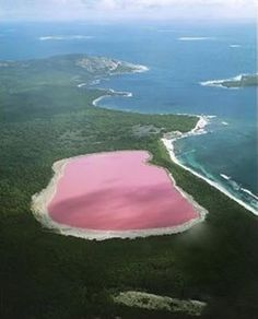 Hillier Lake, Western Australia. Scientists cannot explain the pink colour although they have proven it is not due to the presence of algae.