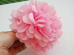 tissue flowers tutorial - can also use pipe cleaners as the stem