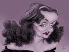 Bette Davis by Emiiano Alonso. Caricatura / Retrato
