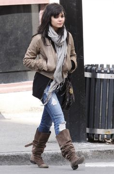 Mike & Chris leather jacket (as seen on Vanessa Hudgens).  http://www.ortutraders.com/mike-chris/