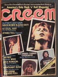 CREEM MAGAZINE JANUARY 1975 DEATH OF GLAM HOLLYWOOD, DAVID BOWIE LESTER BANGS | eBay