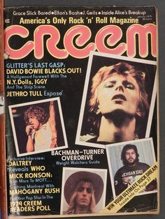 CREEM MAGAZINE JANUARY 1975 DEATH OF GLAM HOLLYWOOD, DAVID BOWIE LESTER BANGS | eBay