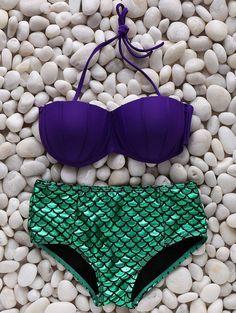 Swimwear For Women - Sexy Bikinis, Swimsuits & Bathing Suits Fashion Trendy Online Halter Bikini, Bikini Swimwear, Sexy Bikini, Swimsuits, Bikinis Lindos, Seashell Bikinis, Pyjamas, Mermaid Cosplay, Mermaid Bikini