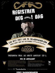 #trønderbarten Trondheim, Movember, Campaign, Movie Posters, Film Poster, Popcorn Posters, Film Posters