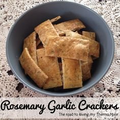 Rosemary Garlic Crackers by The Road to Loving My Thermomix.