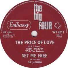 The Big Four (The Price Of Love / Set Me Free) - Terry Brandon with The Beatmen / The Jaybirds (WT2011) Jun '65