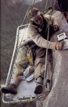 Old school bivy with a cassette player for tunes!
