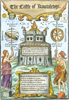Woodcut Title Page From Robert Recorde The Castle Of Knowledge 1556