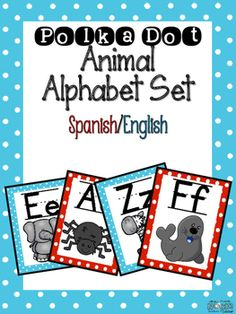 **Spanish and English** Alphabet Posters in Spanish and English. Great to use for back to school when setting up your classroom. These posters follow the Gomez and Gomez model.