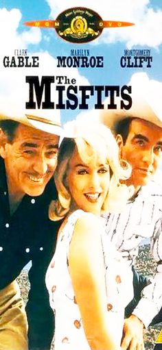 Marilyn Monroe movie poster for the film Misfits . Marilyn Monroe Movies, Marilyn Monroe Photos, Old Movies, Vintage Movies, Retro Vintage, Montgomery Clift, Norma Jeane, Film Camera, Film Posters