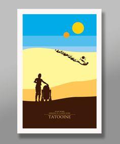 Star Wars film minimaliste affiche Set Edition par BigTimePosters