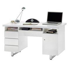 Schreibtisch Paddington - Hochglanz Weiß