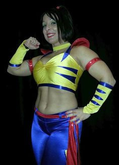 Indy wrestling legend LuFisto in a costume that looks kinda familiar....