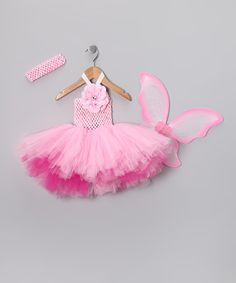 Take a look at this Pink Tutu Dress Set by The Hair Candy Store on #zulily today!