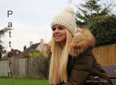 676991e9386 WOMENS HAT PATTERN  Love it  Pom pom Hat by KerryJayneDesigns Easy Crochet  Patterns