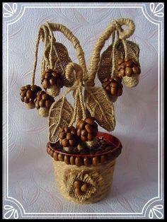 Sisal, Coffee Bean Art, Twine Crafts, Zen Garden Design, Bobbin Lacemaking, Wine Bottle Art, Coffee Crafts, Outdoor Crafts, Easy Diy Gifts