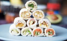 Sushi sandwich rolls - 7 ways