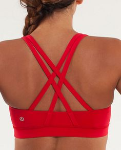 edaa00f23253c Lululemon Energy Bra in Currant - Wish more items came in COLOUR! Workout  Attire