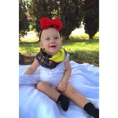 Love this Crochet bow & Mickey mouse infinity scarf combo! Buy yours now from Olive Branch Creations!