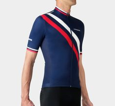 Summer Jersey Diagonal Blue | La Passione Cycling Couture