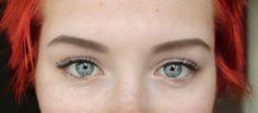 #BlueEyes #blue #eyes #natural #eyebrows #redhair #red #punk #emo #goth #emotional #gothic #rock #punkrock #lashes #mascara #black