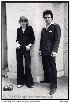 Stevie Ray Vaughan & Jimmie Vaughan  1978  photo by Ken Hoge
