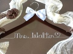 Personalised wedding dress hanger from Etsy.... Cuteness