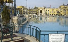 The ornate buildings at the Szechenyi Bath were constructed in 1913. (From: Photos: 12 Gorgeous Hot Springs).