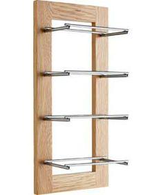 Wood and glass towel rack