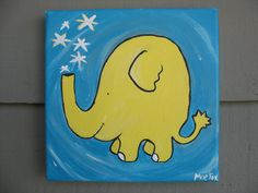 i would love a hand-painted mini painting like this for a kid's room