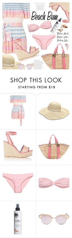 """""""Beach bum...working on some tan lines:)"""" by lisamichele-cdxci ❤ liked on Polyvore featuring Mara Hoffman, Heidi Klein, Valentino, Dolce&Gabbana, Million Dollar Tan and Le Specs"""