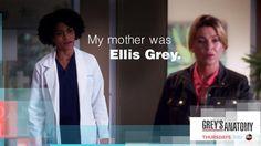 """My mother was Ellis Grey."" Dr. Maggie Pierce to Dr. Meredith Grey, Grey's Anatomy season 11 quotes"