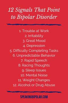 Bipolar Disorder can be very disruptive, but it is also very treatable. This post looks at 12 common signs of bipolar. Bipolar Triggers, Wellness Tips, Health And Wellness, Living With Bipolar Disorder, Mental Illness Awareness, Bi Polar, Successful Relationships, Family Support, Health Talk