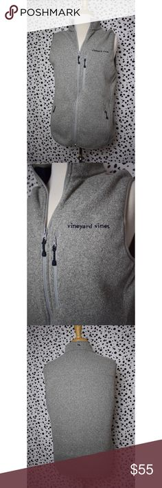 Vineyard Vines Heather Grey Zip Up Vest Size Small Talk about the perfect layering piece! This is ideal for the autumn and winter months! This is an incredibly versatile piece! If you have any questions please feel free to ask! xoxo Lost Treasures Resale 💕  *Measurements are available upon request* Vineyard Vines Jackets & Coats Vests