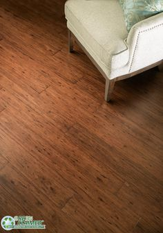 Cocoa Fossilized® Eucalyptus Wide Click Flooring from Cali Bamboo