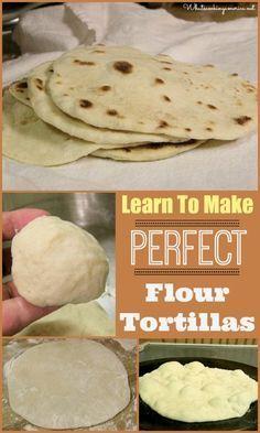 How To Make Perfect Flour Tortillas | whatscookingamerica.net | #flour #tortillas #cincodemayo
