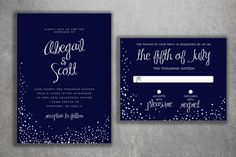 Affordable Wedding Invitation Set Printed  by Level33Graphics