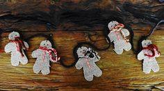 - Guirlanda com 6 bonecos biscoitos