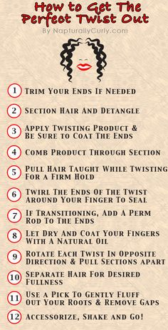 How to Get a Great Twist Out on Transitioning or Natural Hair. Use a natural gel to help your twist-out last during the week!