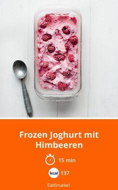 Frozen Joghurt mit Himbeeren