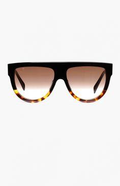 41abeec8cca98f Celine - Havana Blonde Shadow Sunglasses Gespiegelde Zonnebril