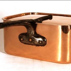 Copper oval pan, French, late 19th century
